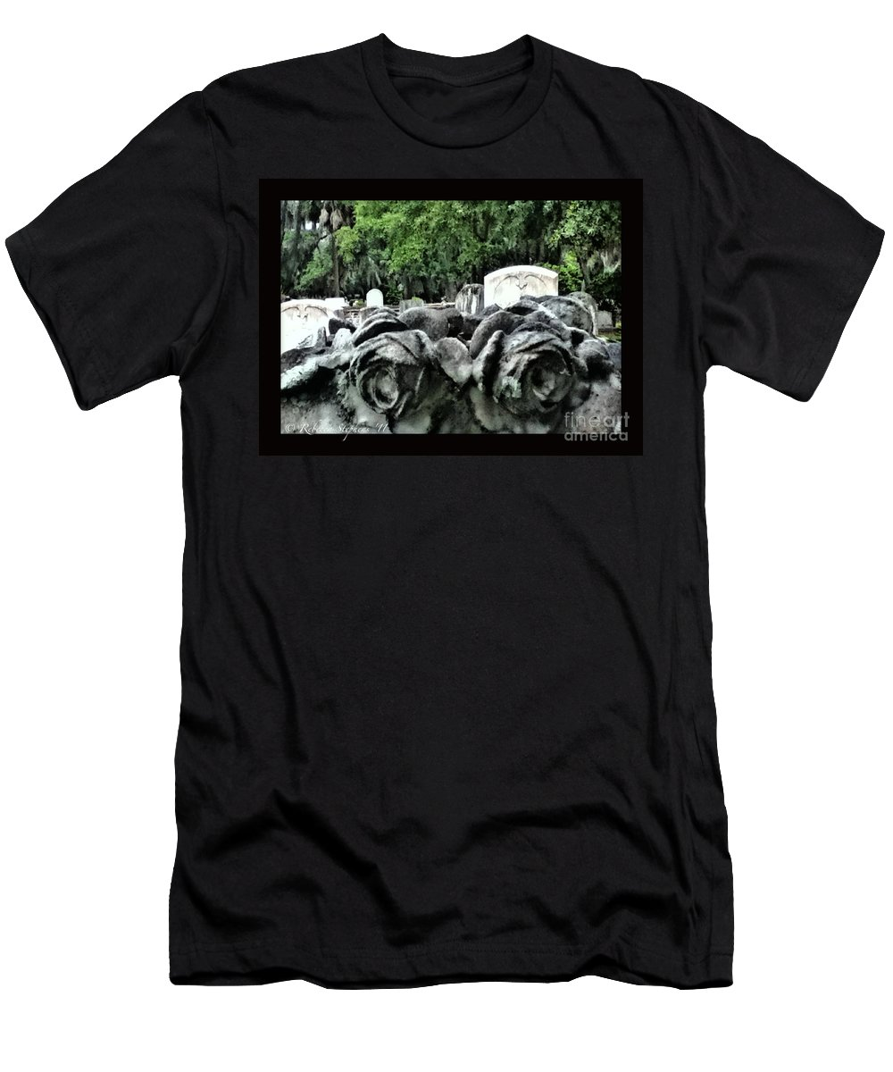 Flower Men's T-Shirt (Athletic Fit) featuring the photograph Tranquil Blossom by Rebecca Stephens
