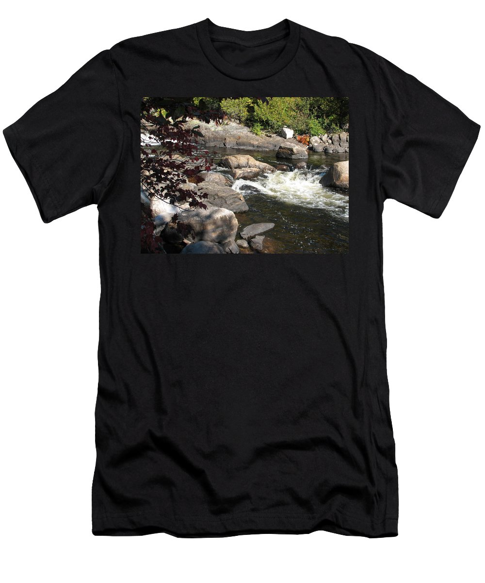 River Men's T-Shirt (Athletic Fit) featuring the photograph Tranquil Spot by Kelly Mezzapelle