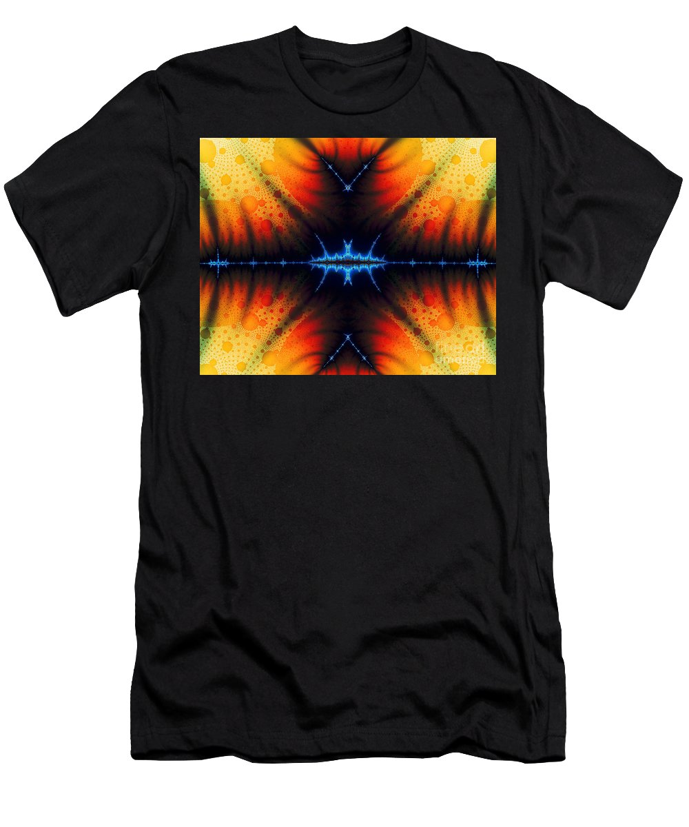 Clay Men's T-Shirt (Athletic Fit) featuring the digital art Transient Propagation by Clayton Bruster