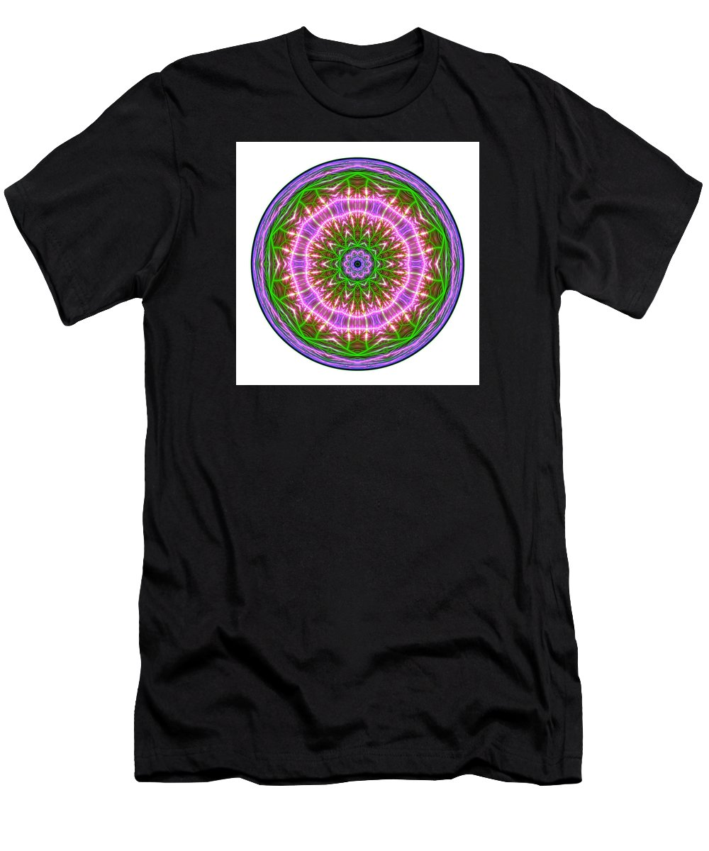 Mandala Men's T-Shirt (Athletic Fit) featuring the digital art Transition Fcircle by Robert Thalmeier