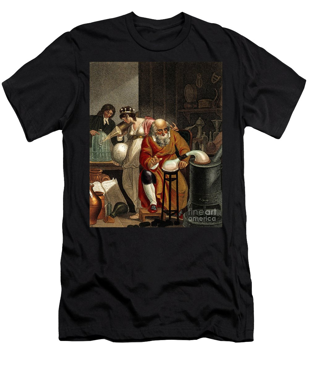 Historic Men's T-Shirt (Athletic Fit) featuring the photograph Transition From Alchemy To Chemistry by Wellcome Images