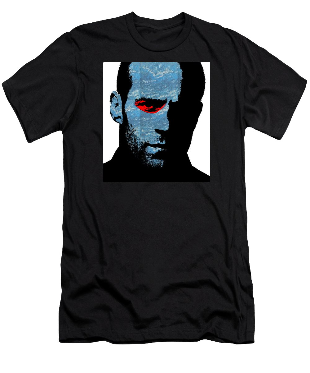 Jason Statham Men's T-Shirt (Athletic Fit) featuring the photograph Transporter by Emme Pons