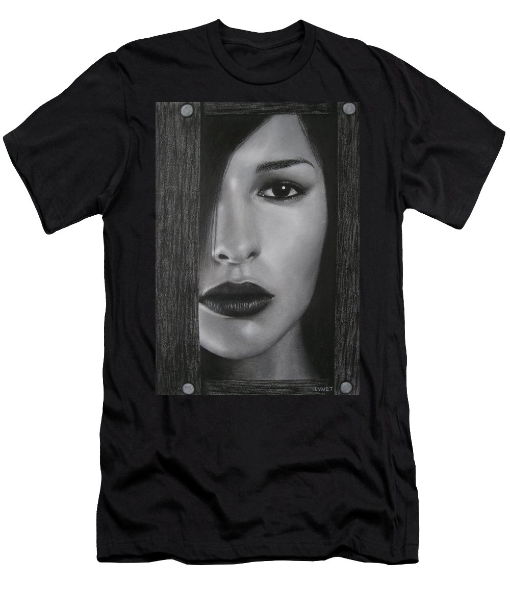 Woman Men's T-Shirt (Athletic Fit) featuring the painting Trapped by Lynet McDonald