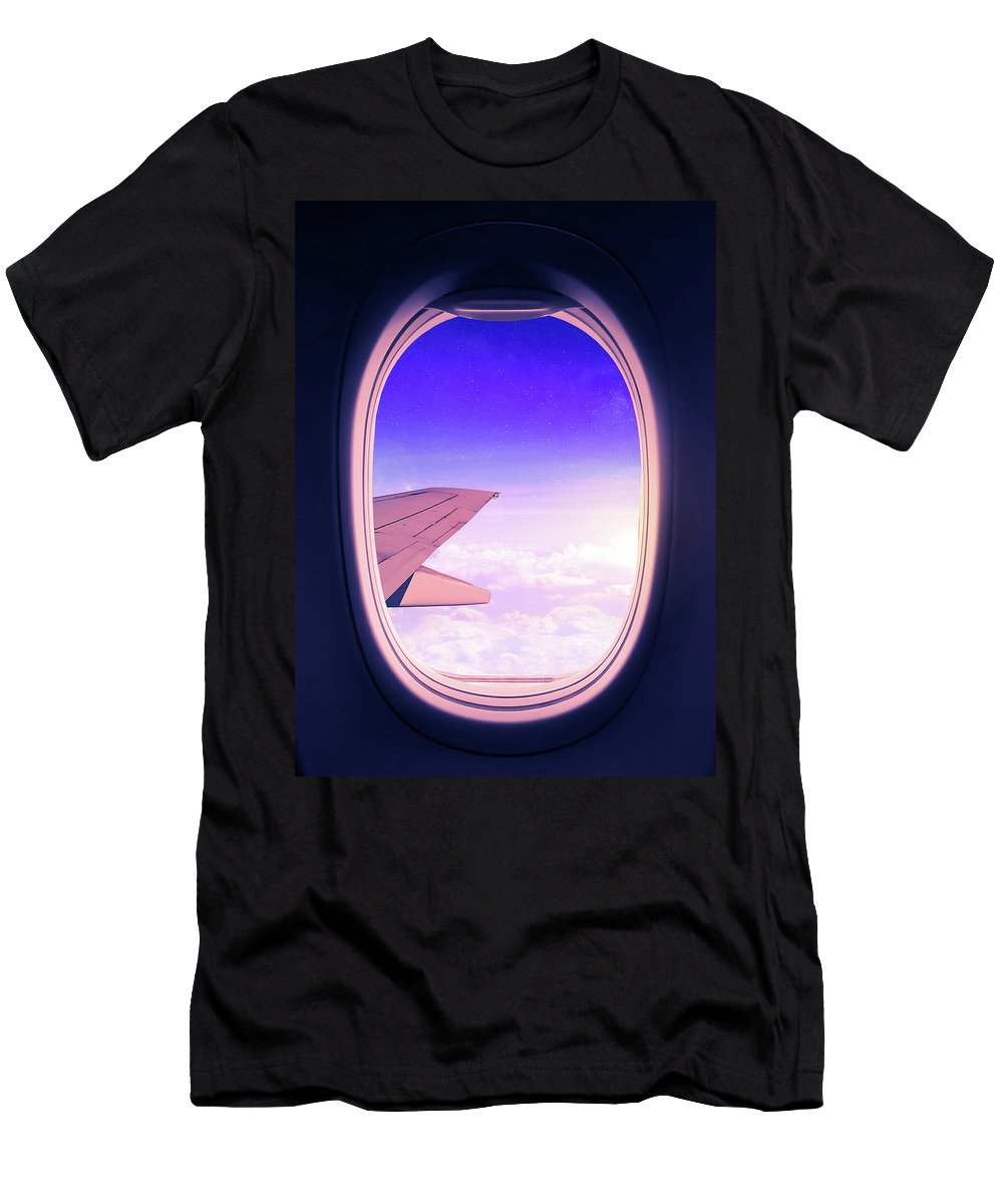 Travel T-Shirt featuring the mixed media Travel The World by Nicklas Gustafsson