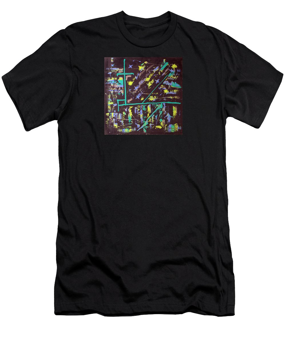 Impressionist Painting Men's T-Shirt (Athletic Fit) featuring the painting Trawler And Wharf by J R Seymour