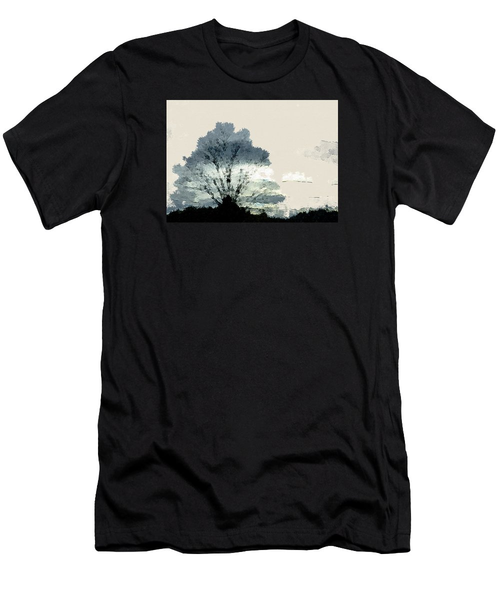 Abstract Men's T-Shirt (Athletic Fit) featuring the photograph Tree Along The Way by Ronda Broatch