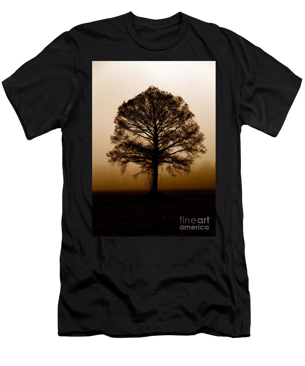 Trees Men's T-Shirt (Athletic Fit) featuring the photograph Tree by Amanda Barcon