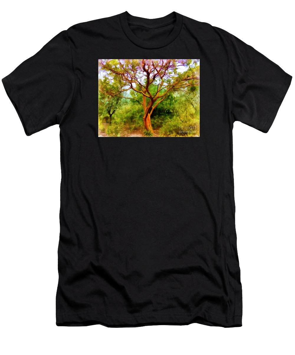 Tree Men's T-Shirt (Athletic Fit) featuring the photograph Tree At Kew Gardens by Judi Bagwell