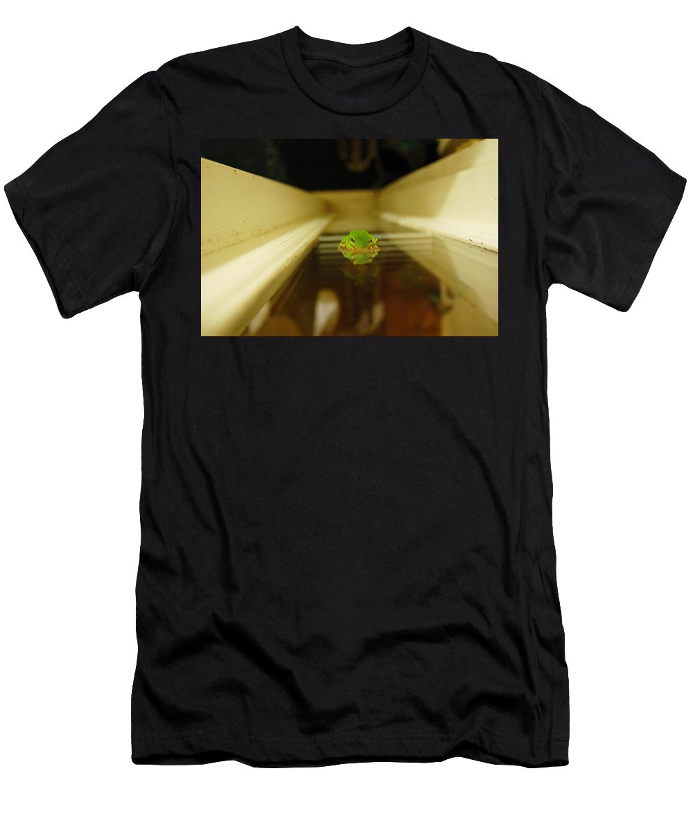 Frog Men's T-Shirt (Athletic Fit) featuring the photograph Tree Frog II by Robert Meanor