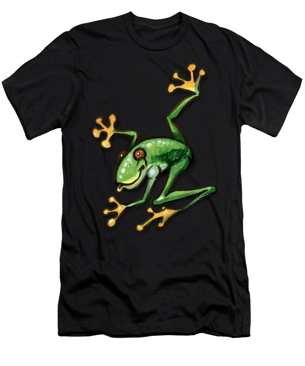 Tree Men's T-Shirt (Athletic Fit) featuring the painting Tree Frog by Kevin Middleton