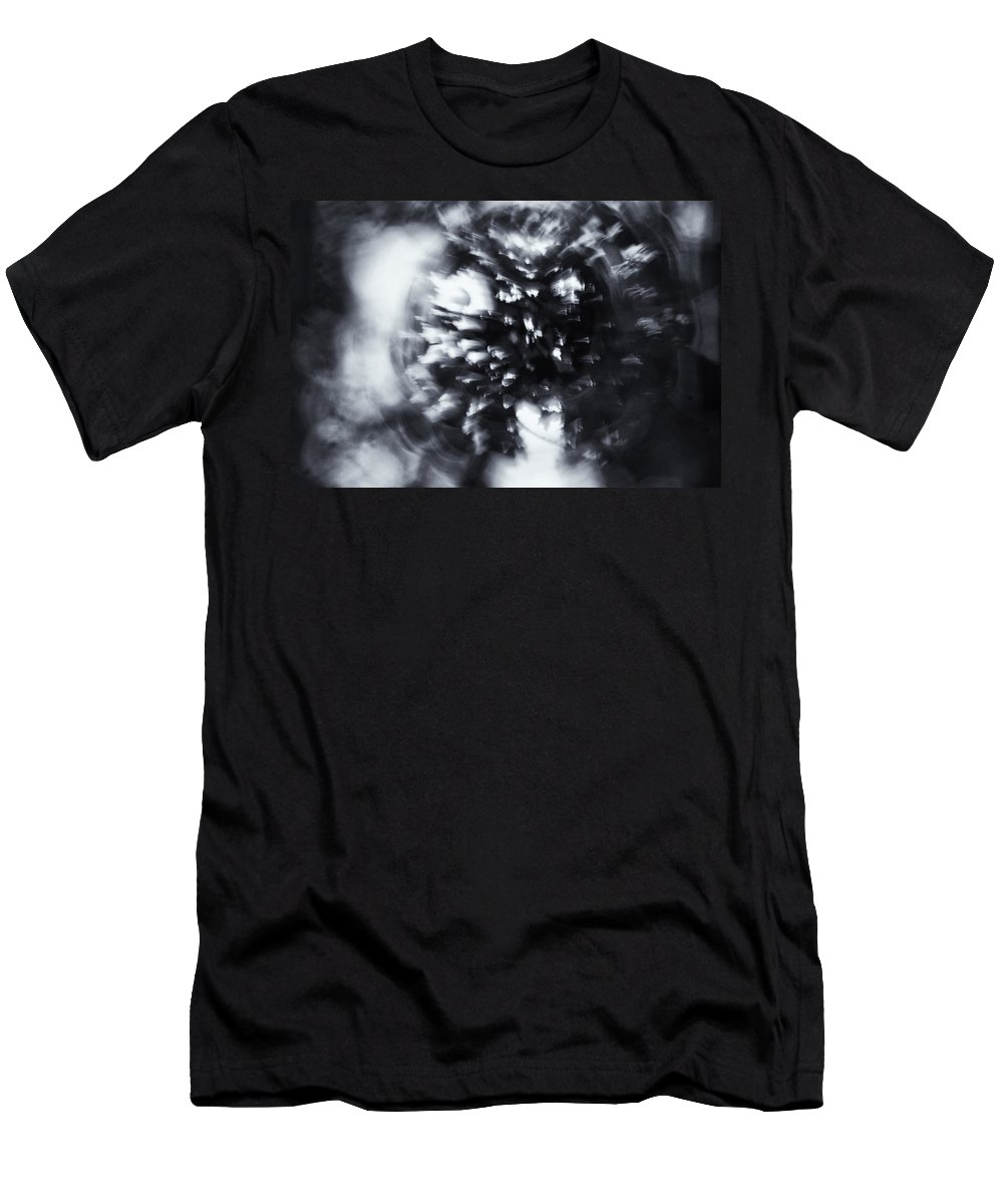 Abstract Men's T-Shirt (Athletic Fit) featuring the photograph Tree Implosion by Scott Wyatt