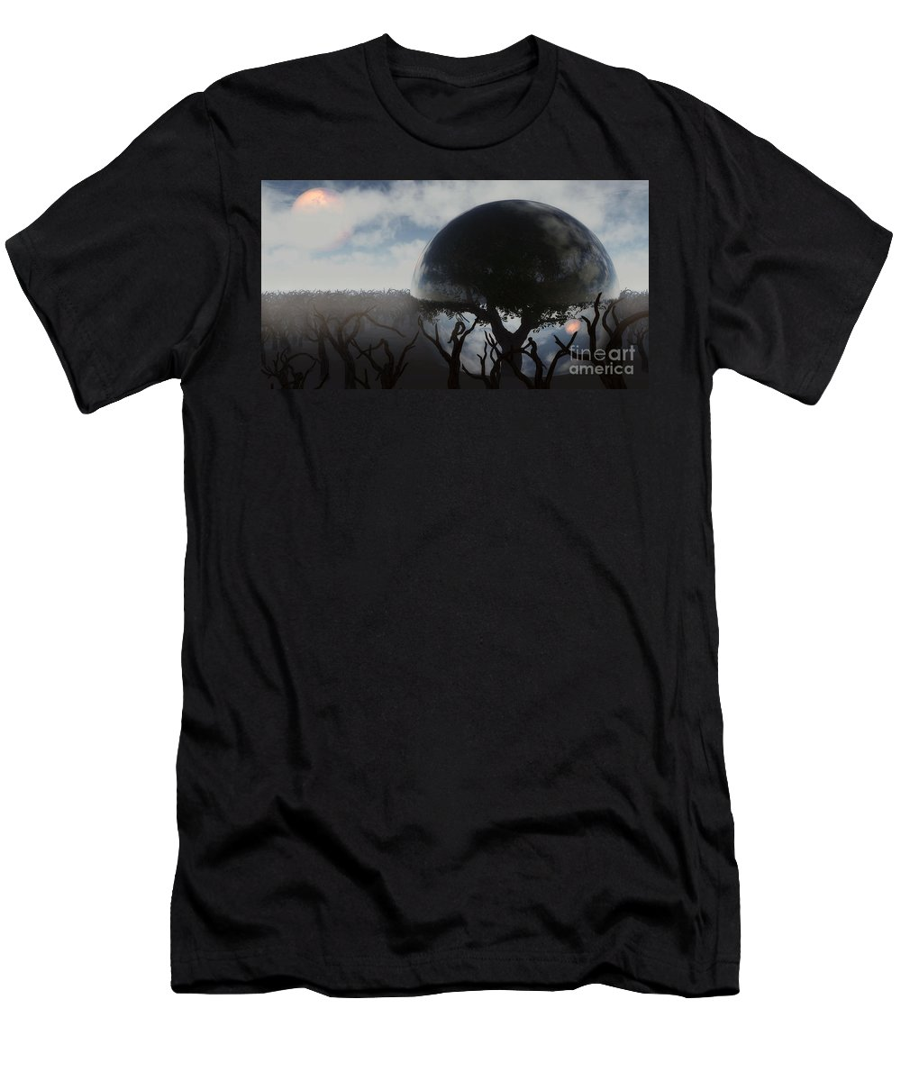 Life Men's T-Shirt (Athletic Fit) featuring the digital art Tree Of Life by Richard Rizzo