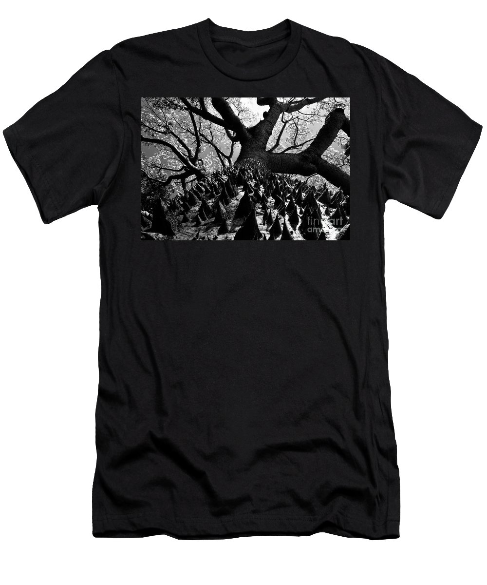 Tree Men's T-Shirt (Athletic Fit) featuring the photograph Tree Of Thorns B by David Lee Thompson