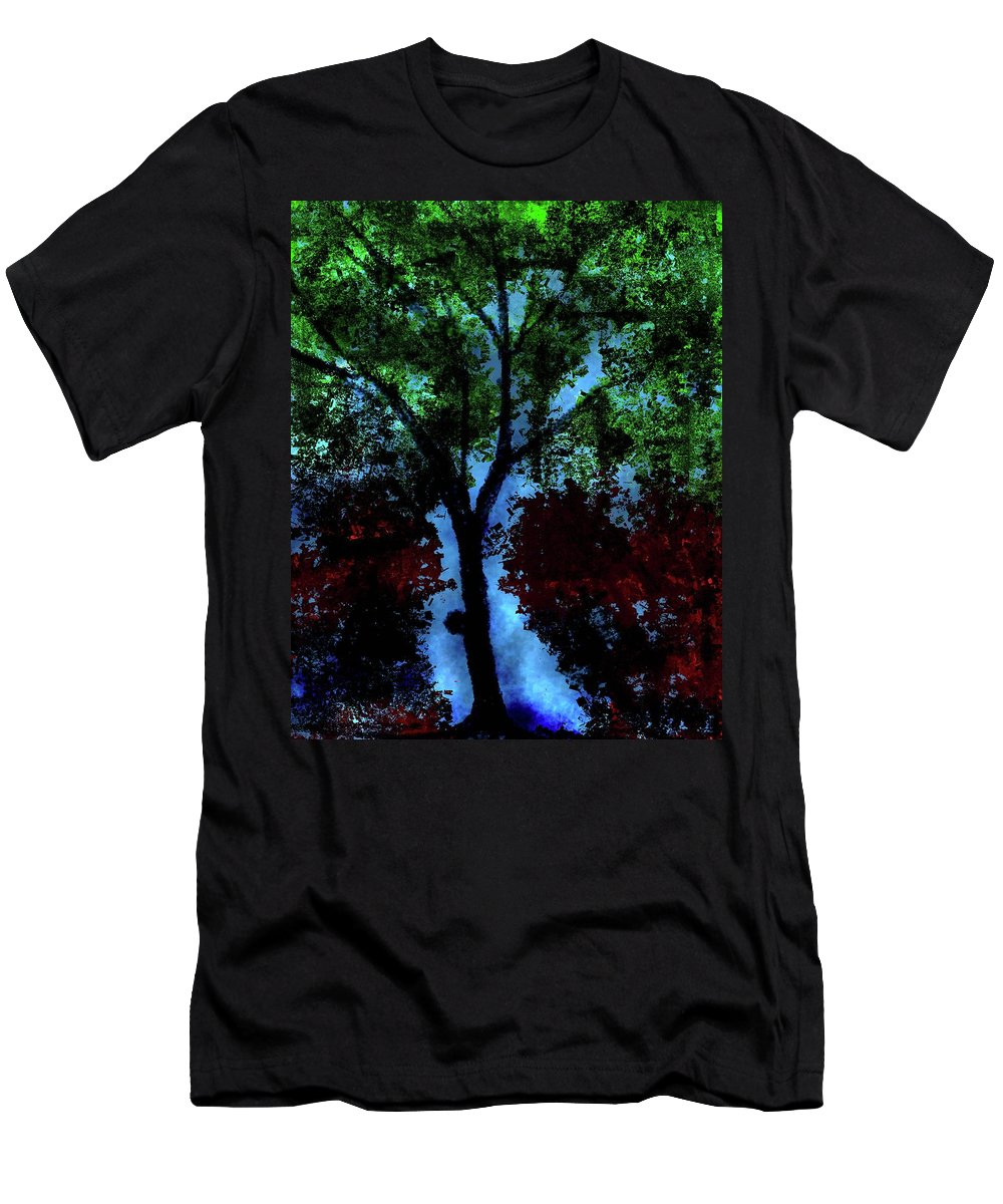 Men's T-Shirt (Athletic Fit) featuring the digital art Tree by Vijay Prakash