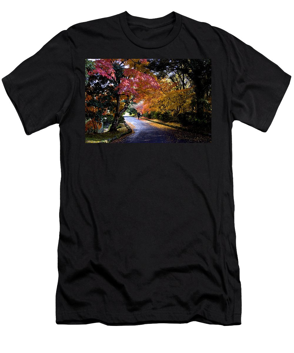Trees Men's T-Shirt (Athletic Fit) featuring the photograph Trees In Japan 1 by George Cabig