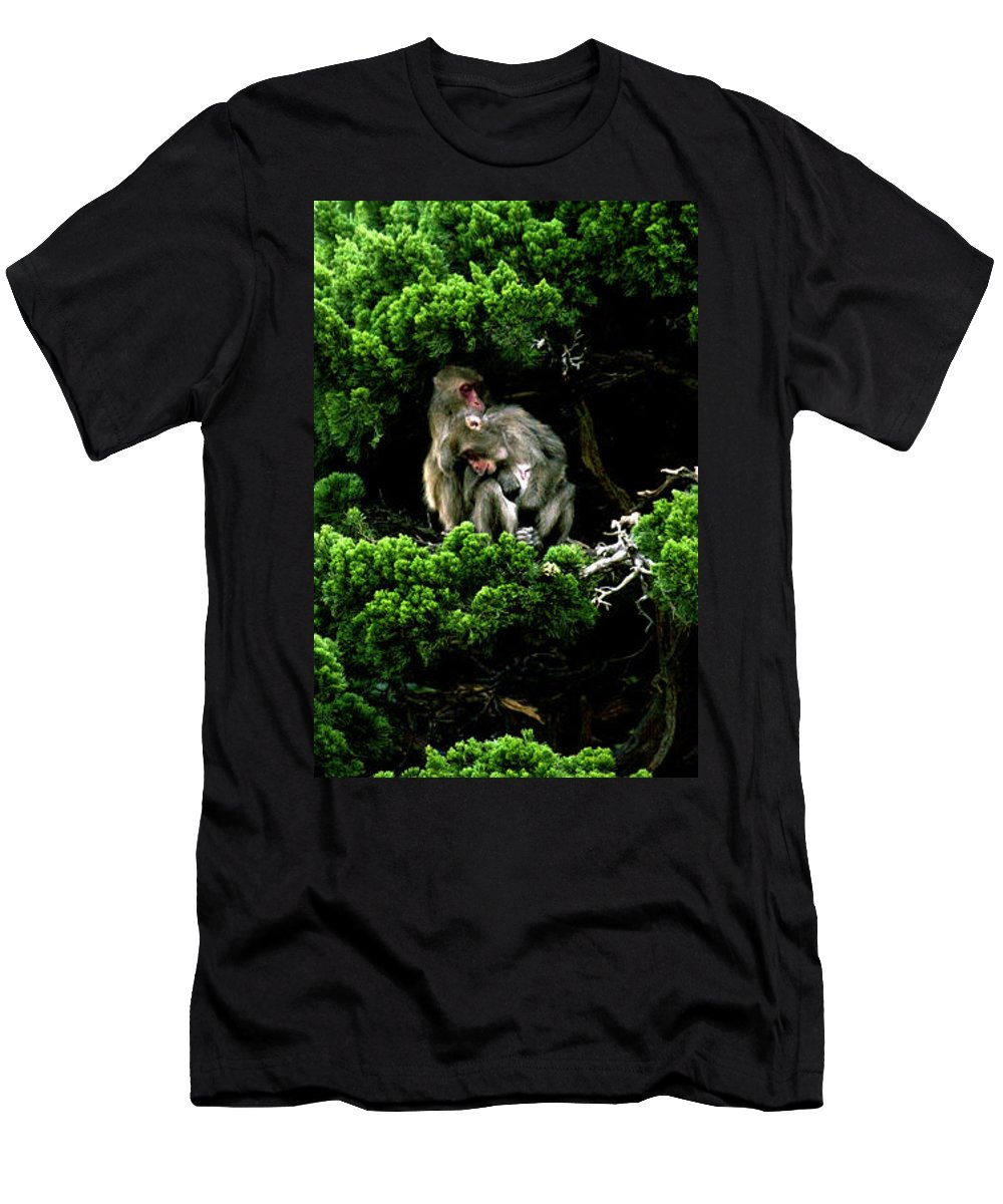 Trees Men's T-Shirt (Athletic Fit) featuring the photograph Trees In Japan 10 by George Cabig