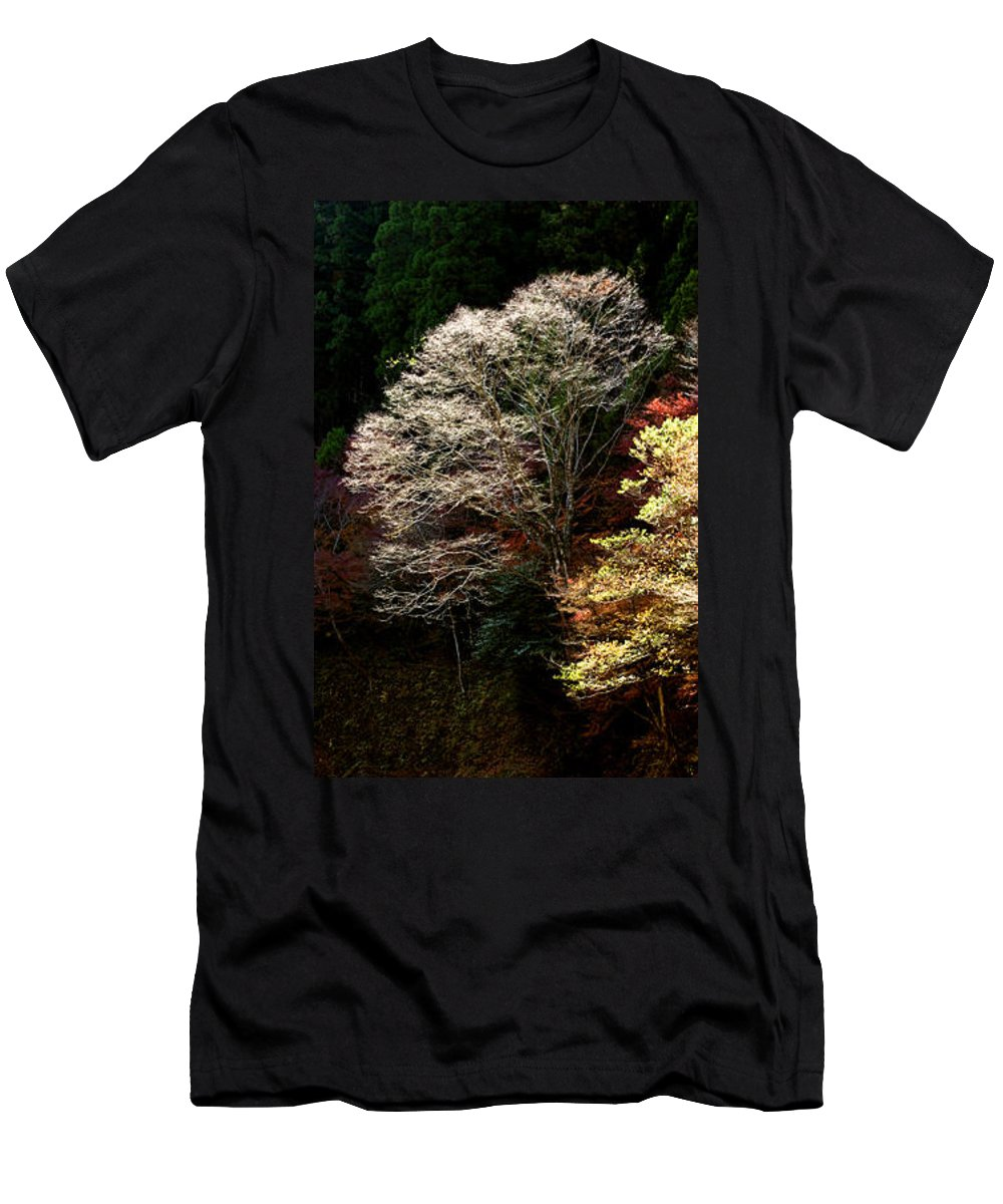 Trees Men's T-Shirt (Athletic Fit) featuring the photograph Trees In Japan 11 by George Cabig