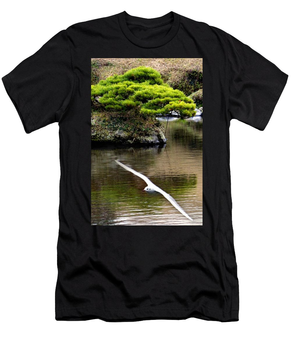 Trees Men's T-Shirt (Athletic Fit) featuring the photograph Trees In Japan 14 by George Cabig