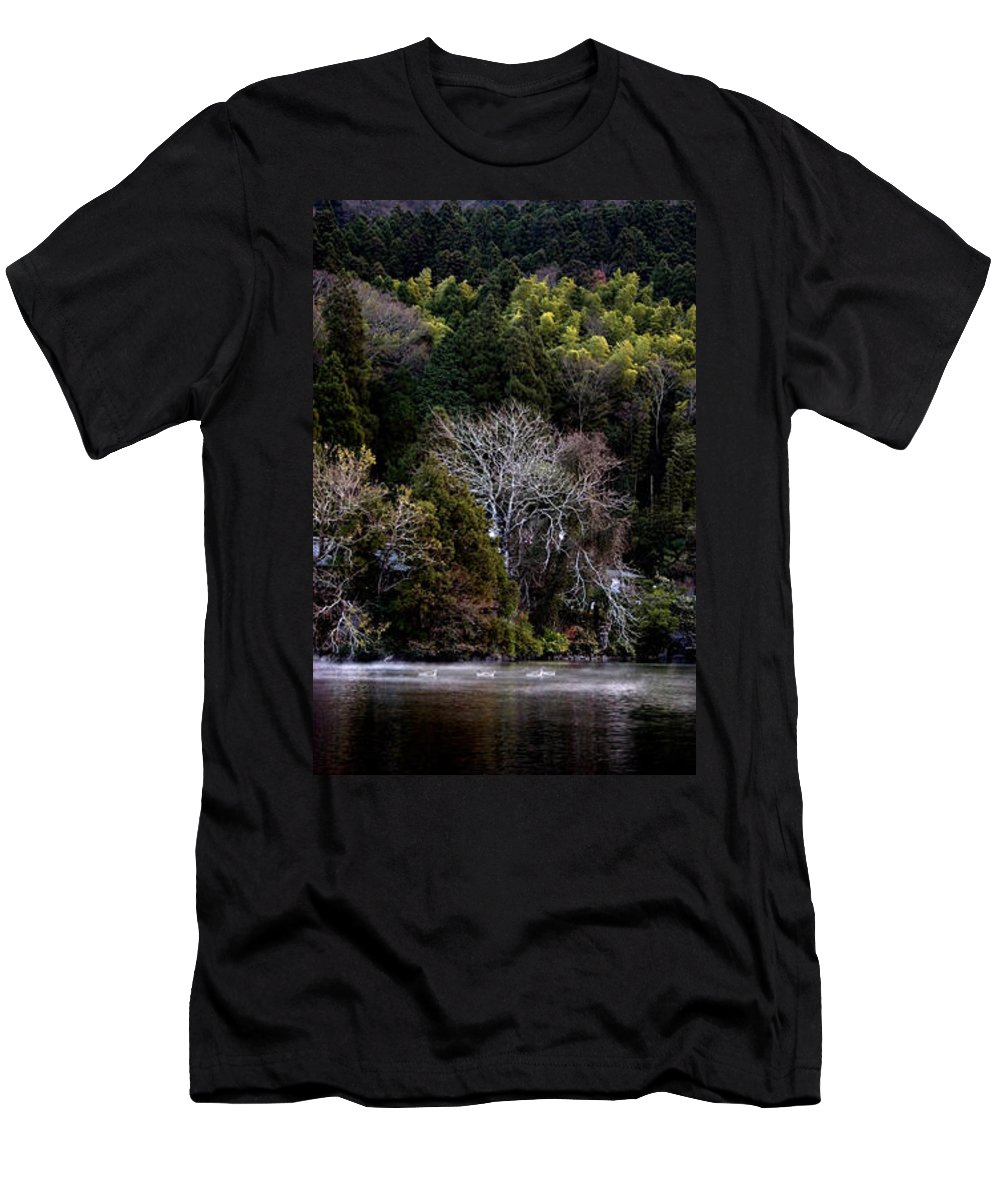 Landscape Men's T-Shirt (Athletic Fit) featuring the photograph Trees In Japan 2 by George Cabig
