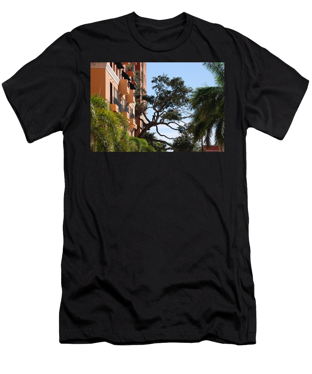 Architecture Men's T-Shirt (Athletic Fit) featuring the photograph Trees In Space by Rob Hans