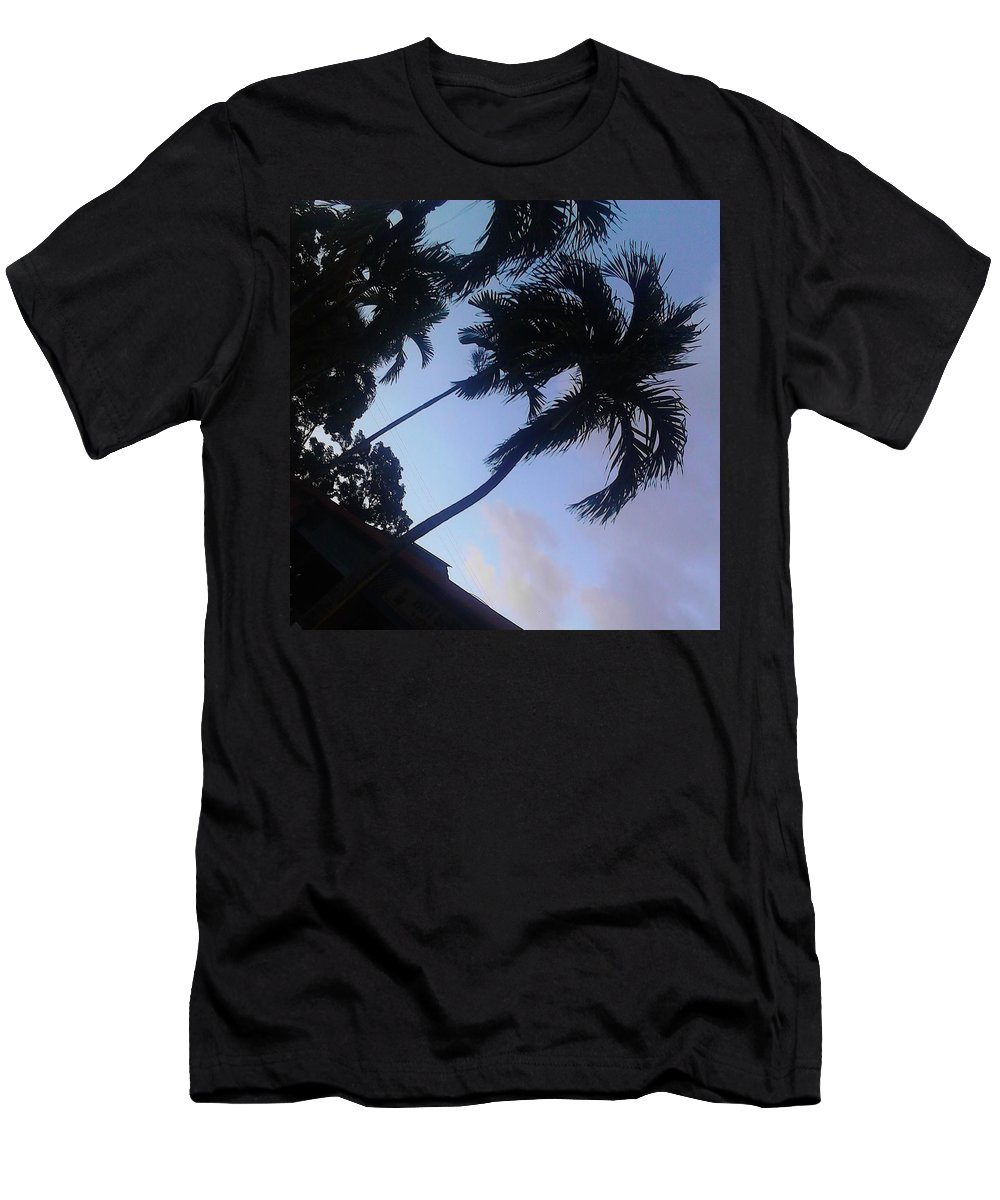 Landscape Men's T-Shirt (Athletic Fit) featuring the photograph Trees In The Tropics by Crystal Harrison