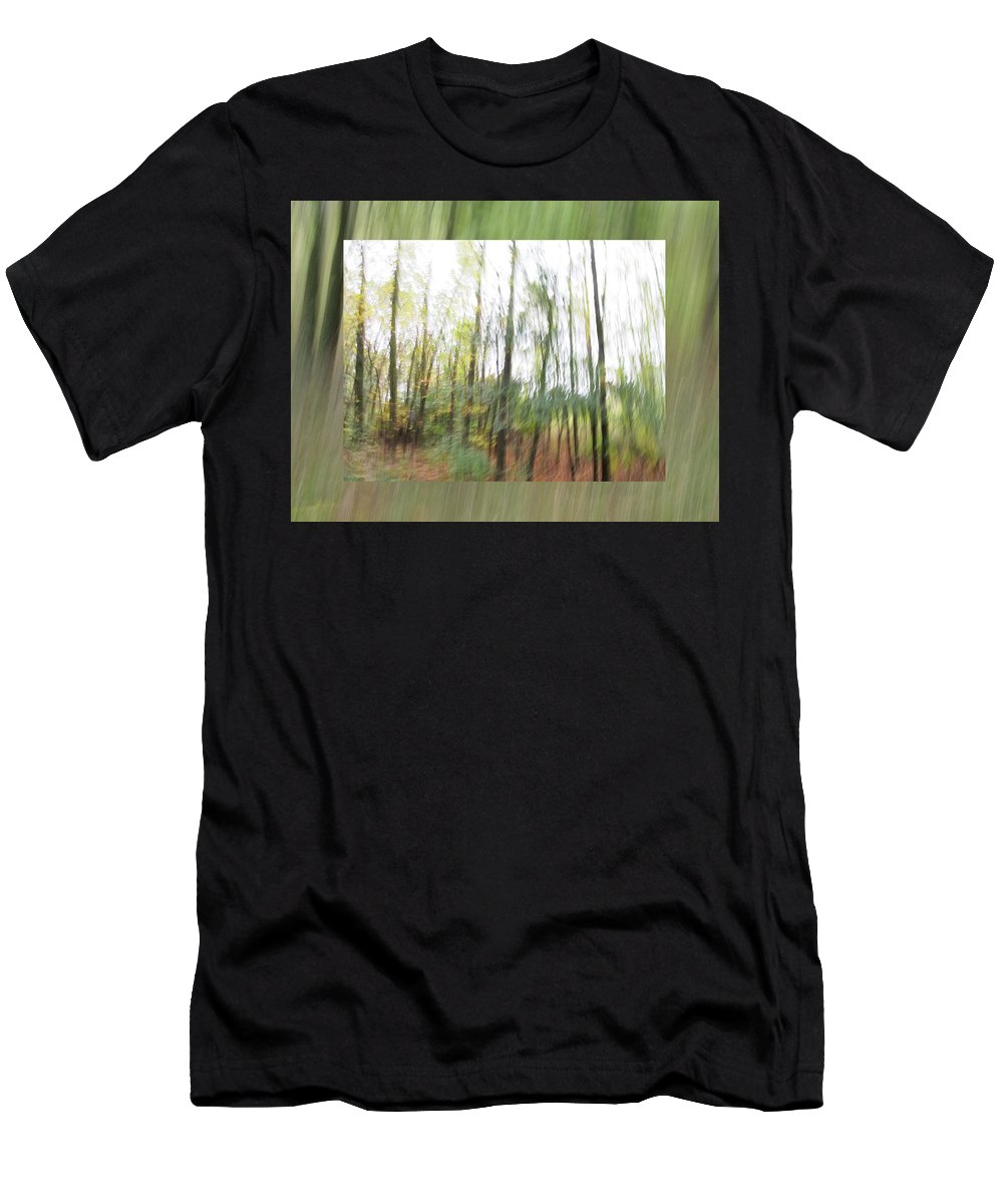 Leaf Men's T-Shirt (Athletic Fit) featuring the photograph Trees On The Move by Don Zawadiwsky