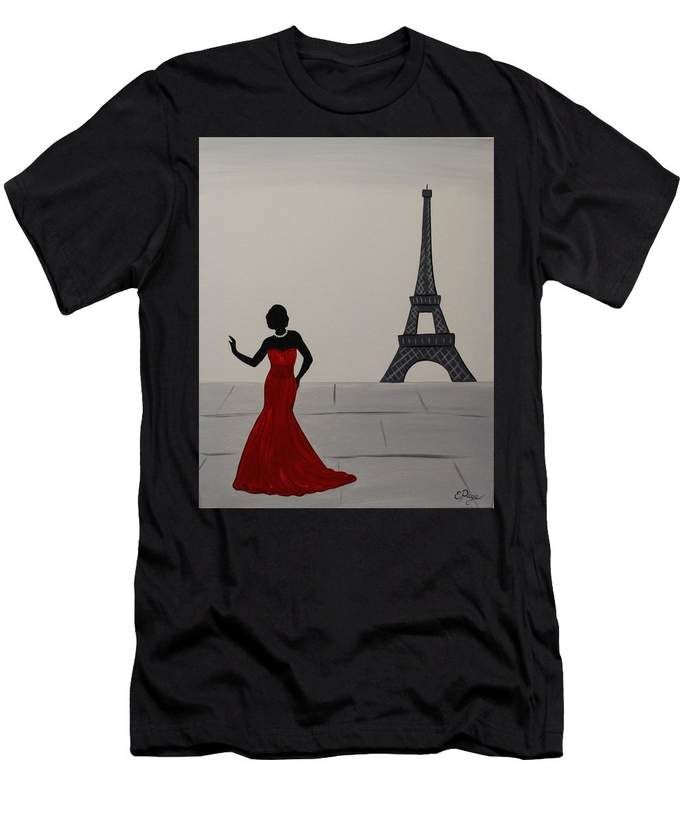 Paris Men's T-Shirt (Athletic Fit) featuring the painting Tres Chic by Emily Page