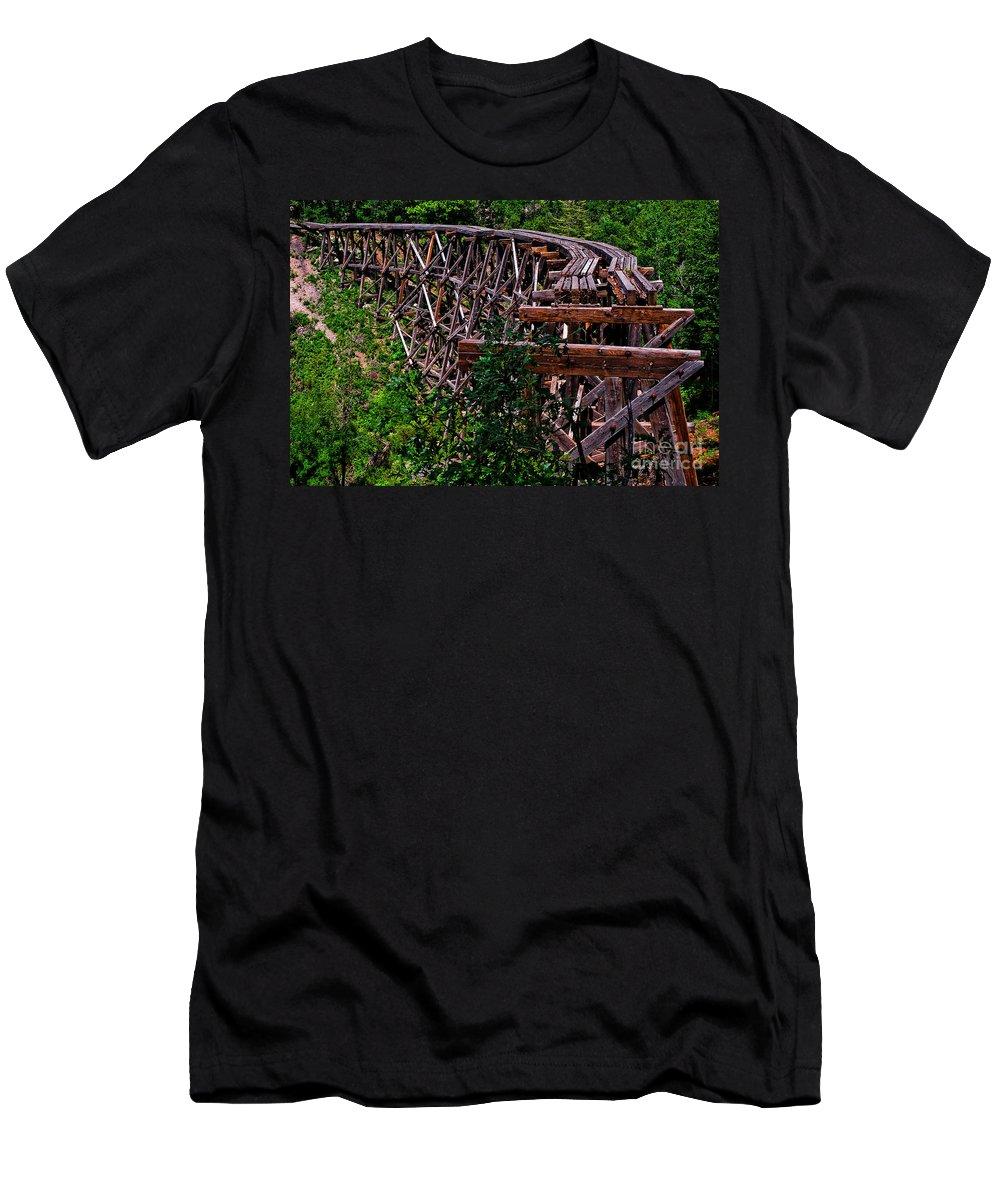 Nature Men's T-Shirt (Athletic Fit) featuring the photograph Trestle by Jennifer Sensiba
