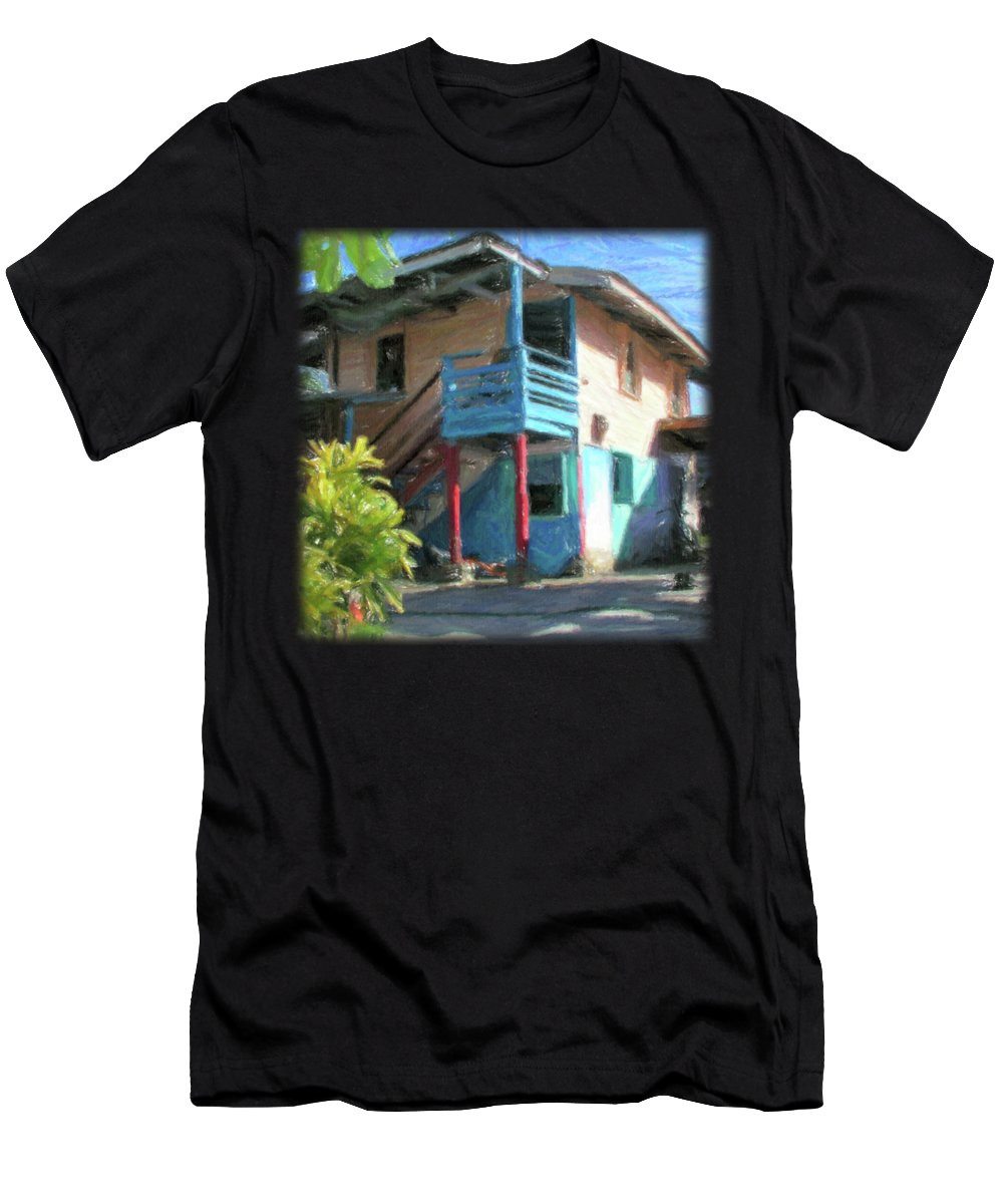 Typical Men's T-Shirt (Athletic Fit) featuring the digital art Trevas House by Jon Delorme