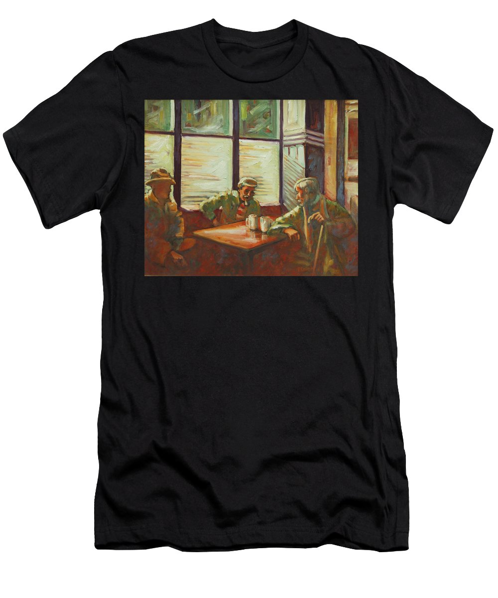 Men Men's T-Shirt (Athletic Fit) featuring the painting Triest by Rick Nederlof