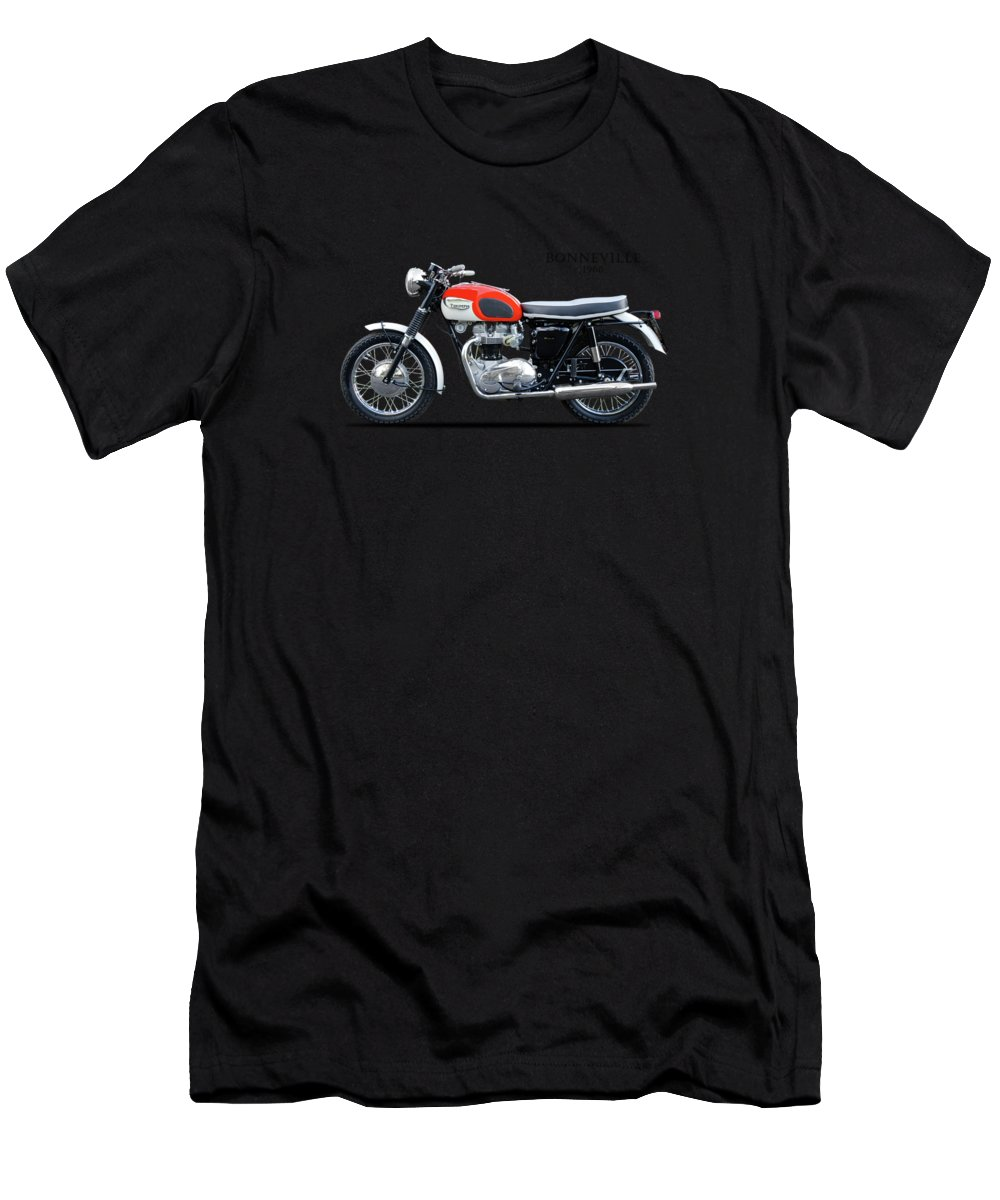 Triumph Bonneville Men's T-Shirt (Athletic Fit) featuring the photograph Triumph Bonneville 1966 by Mark Rogan