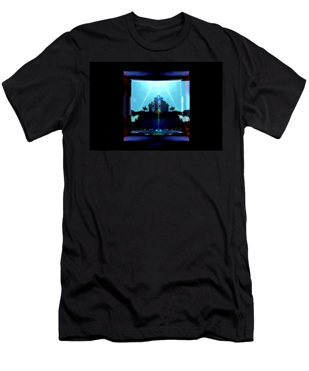 Dream Men's T-Shirt (Athletic Fit) featuring the photograph Triumph In Rome by Charles Stuart