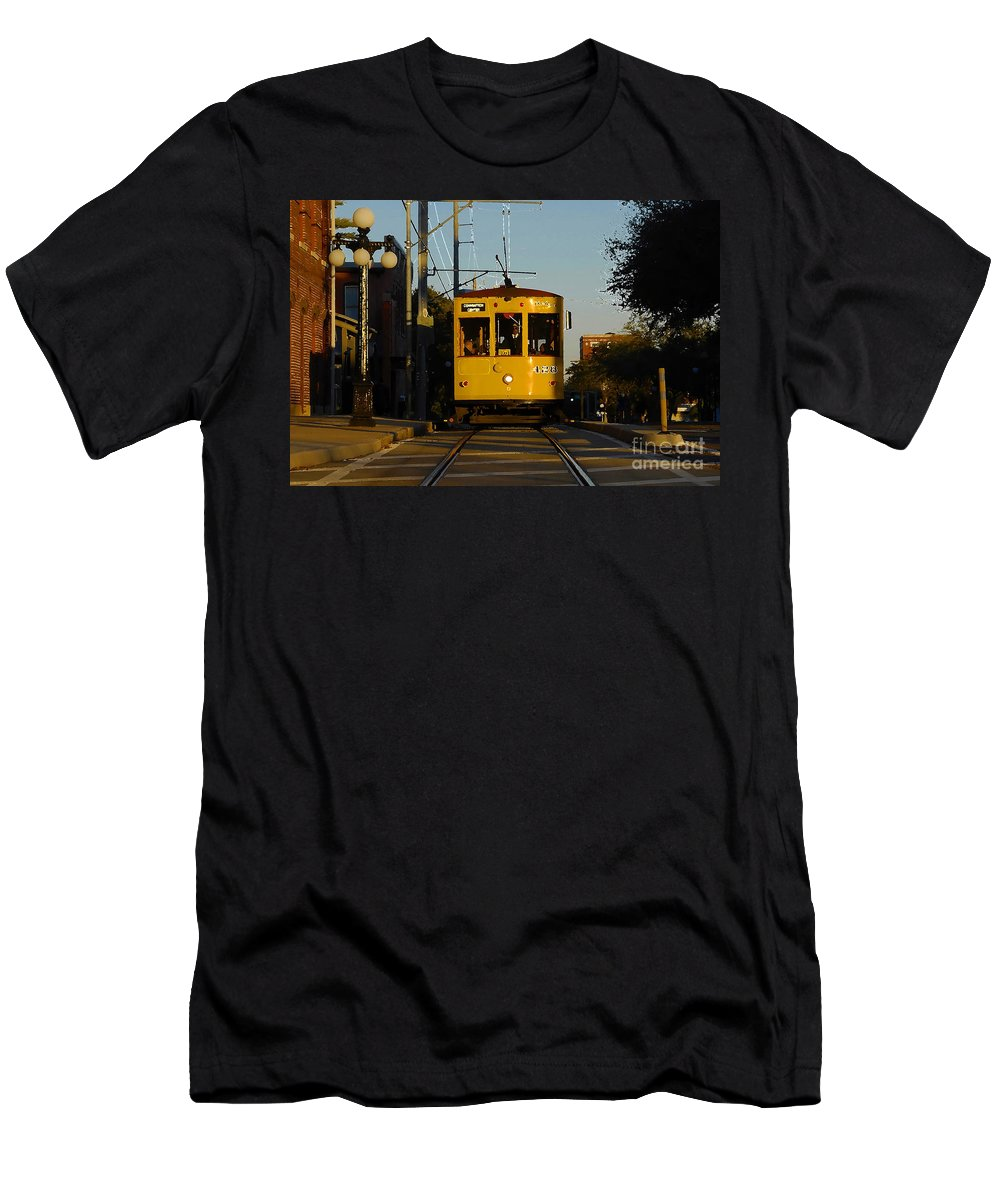 Trolley Men's T-Shirt (Athletic Fit) featuring the photograph Trolley Ride by David Lee Thompson