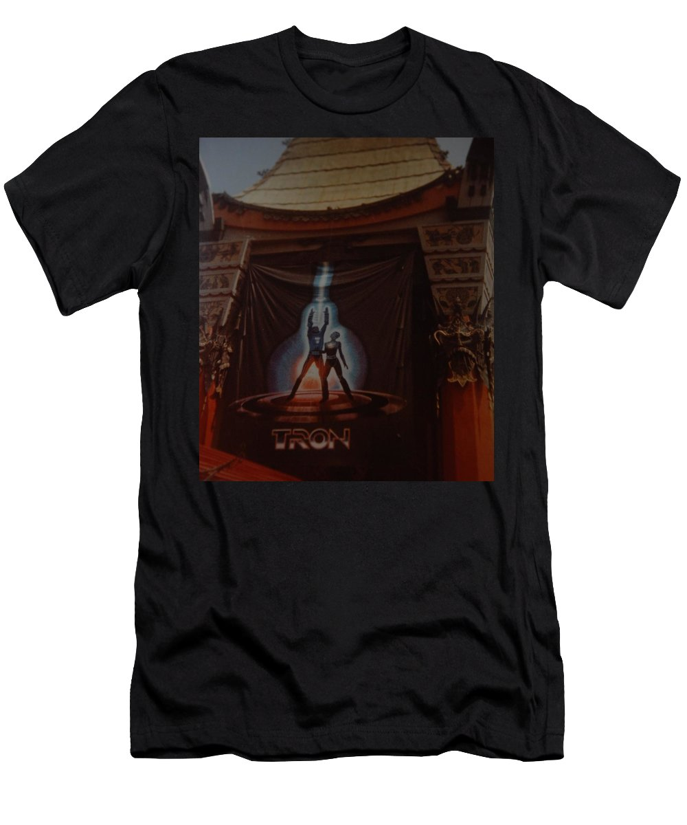 Grumanns Chinese Theater Men's T-Shirt (Athletic Fit) featuring the photograph Tron by Rob Hans