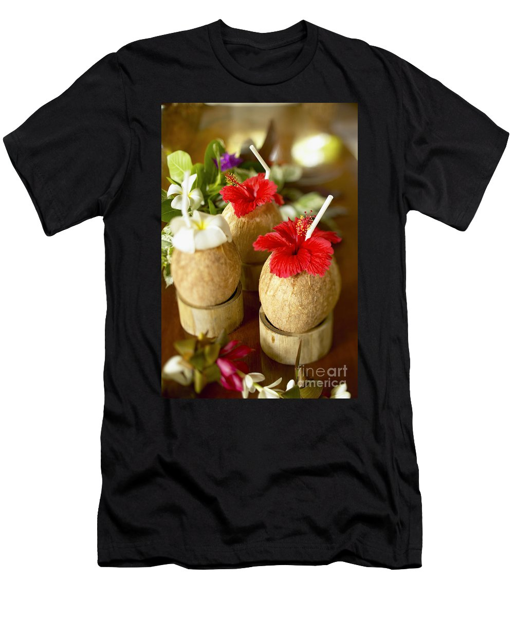 Bar Men's T-Shirt (Athletic Fit) featuring the photograph Tropical Cocktail by Kyle Rothenborg - Printscapes