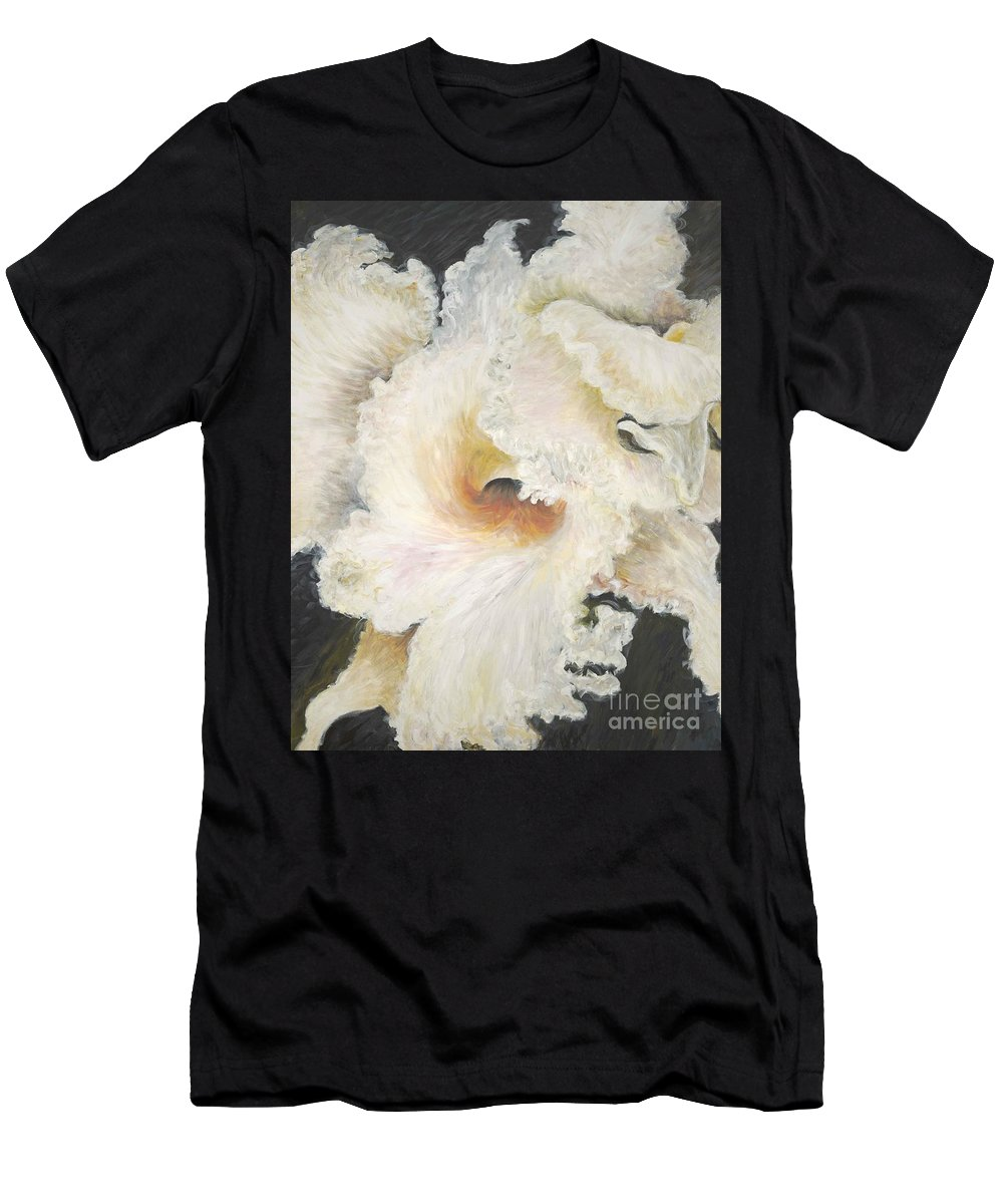 Flower Men's T-Shirt (Athletic Fit) featuring the painting Tropical Flowers by Nadine Rippelmeyer