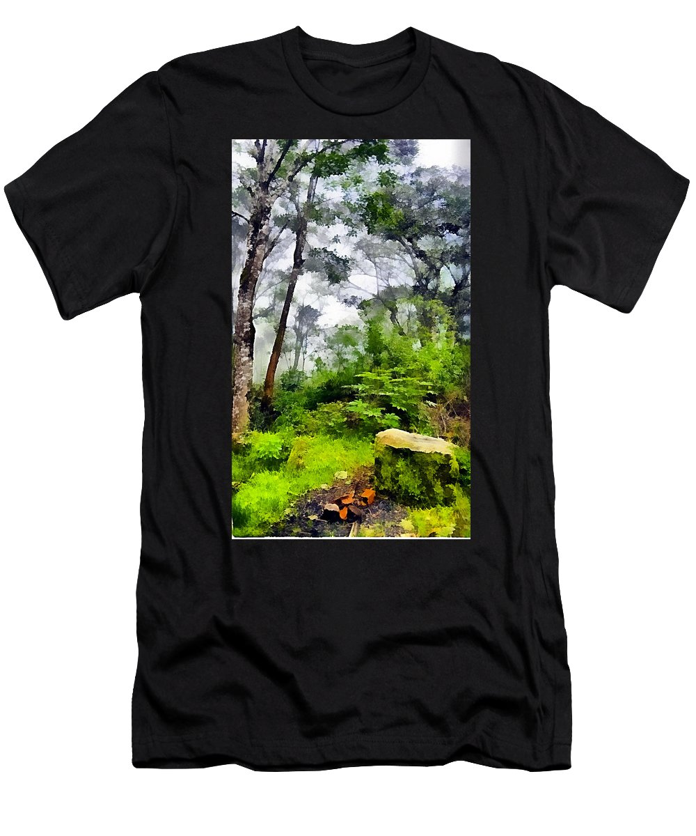 Tropical Forest Men's T-Shirt (Athletic Fit) featuring the photograph Tropical Forest by Galeria Trompiz