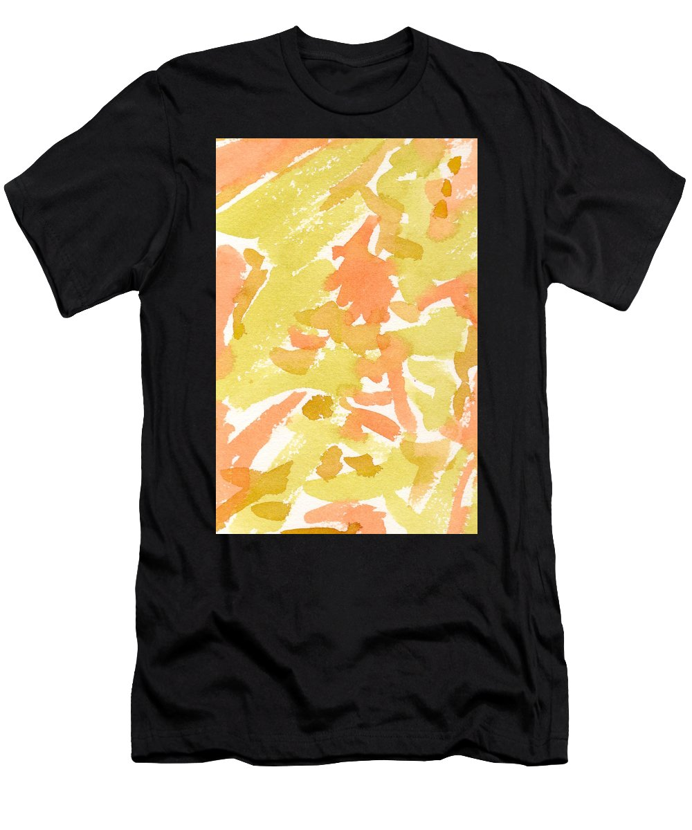 Watercolor Men's T-Shirt (Athletic Fit) featuring the painting Tropical Fruit by Marcy Brennan