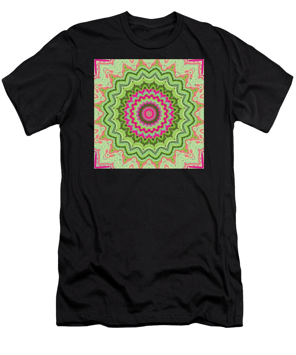 Digital Men's T-Shirt (Athletic Fit) featuring the digital art Tropical Kaleidoscope by Joy McKenzie