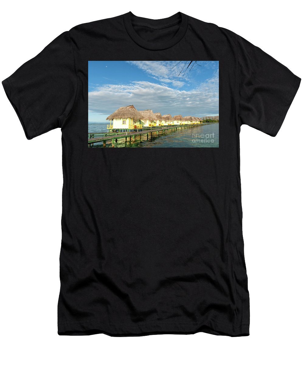 Bocas Del Toro Men's T-Shirt (Athletic Fit) featuring the photograph Tropical Paradise by Genevieve Vallee