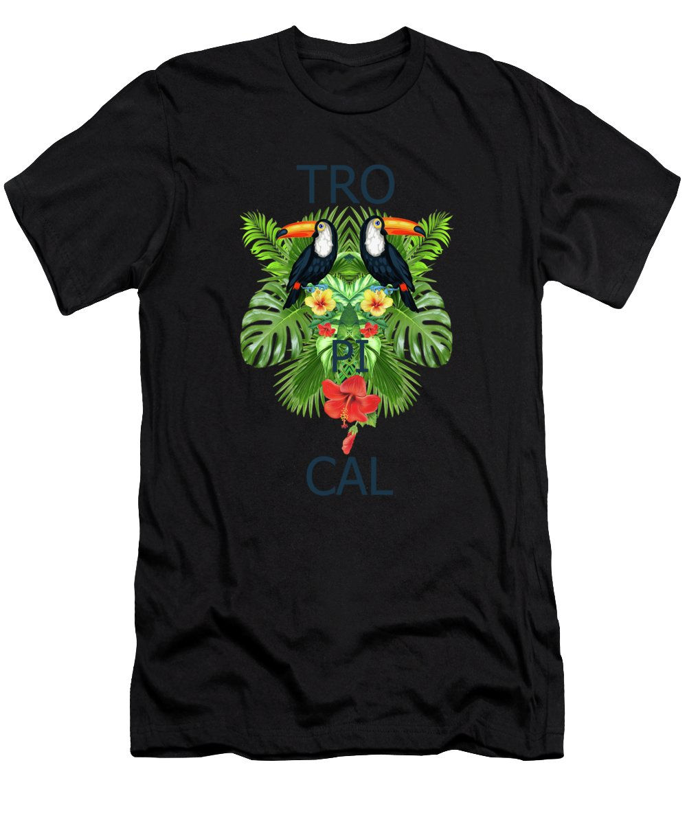 Animals Men's T-Shirt (Athletic Fit) featuring the photograph Tropical Summer by Mark Ashkenazi