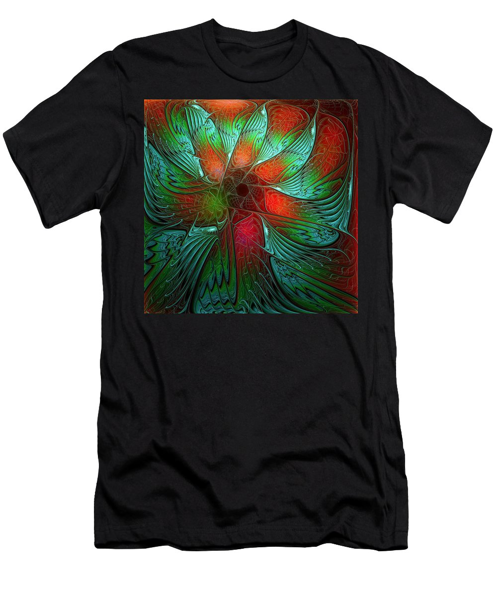 Digital Art Men's T-Shirt (Athletic Fit) featuring the digital art Tropical Tones by Amanda Moore