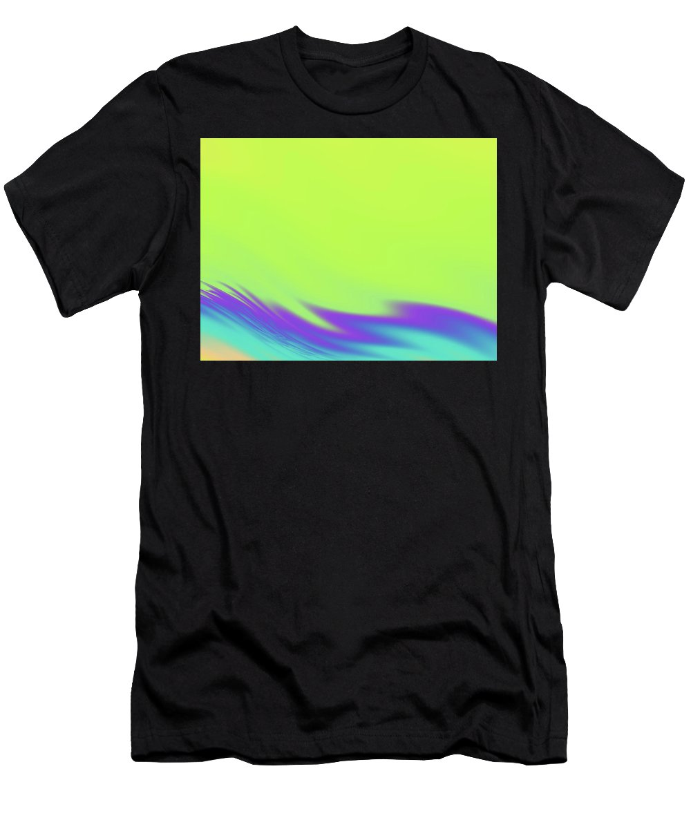 Abstract Men's T-Shirt (Athletic Fit) featuring the digital art Tropical Waves by Rich Leighton