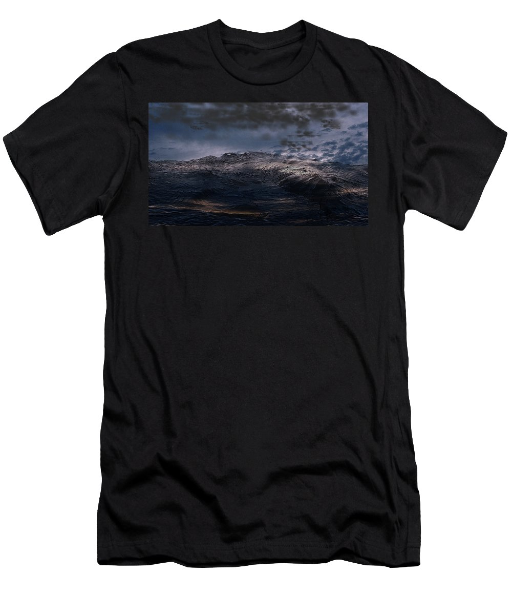 3ds Max Men's T-Shirt (Athletic Fit) featuring the digital art Troubled Waters by James Barnes