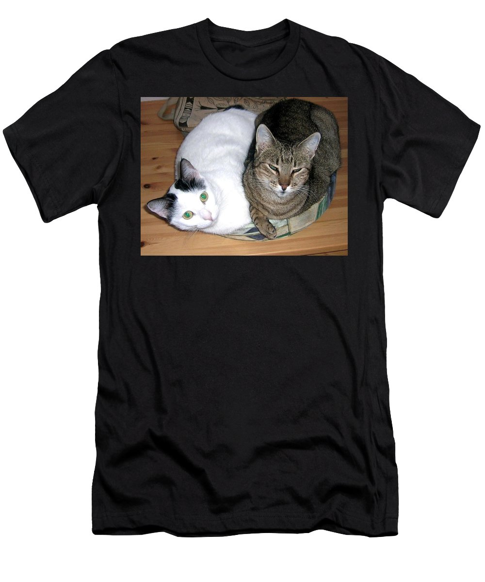 Cat Men's T-Shirt (Athletic Fit) featuring the photograph True Love by Valerie Ornstein