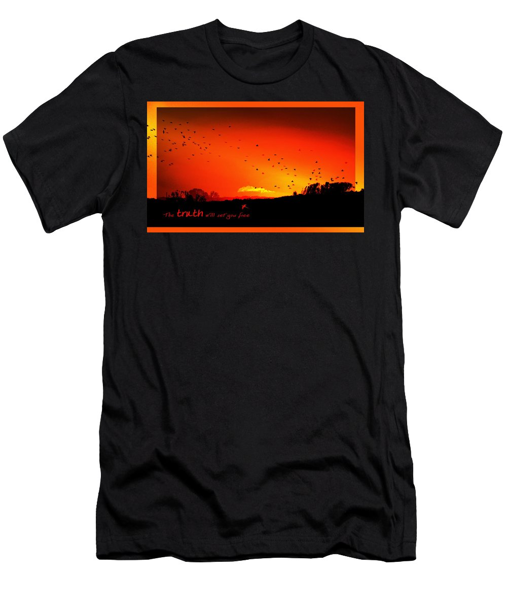 Landscape Men's T-Shirt (Athletic Fit) featuring the photograph Truth by Holly Kempe
