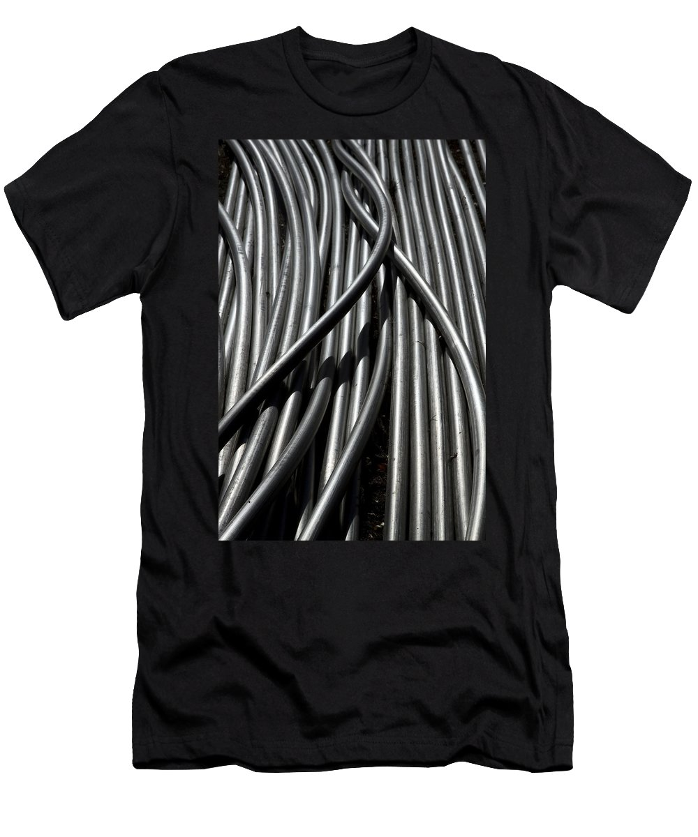 Tubes Men's T-Shirt (Athletic Fit) featuring the photograph Tubular Abstract Art Number 13 by James BO Insogna