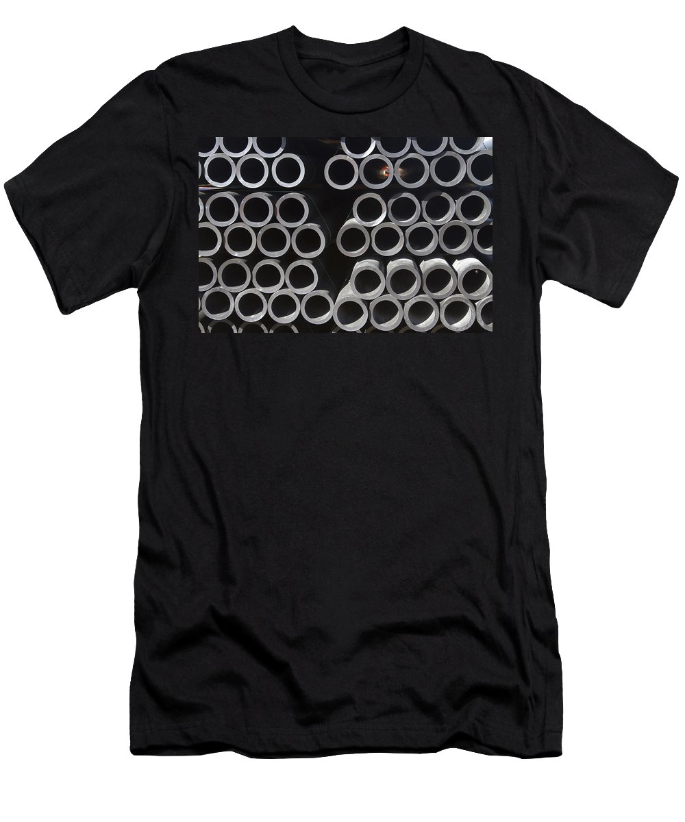 Tubes Men's T-Shirt (Athletic Fit) featuring the photograph Tubular Abstract Art Number 9 by James BO Insogna