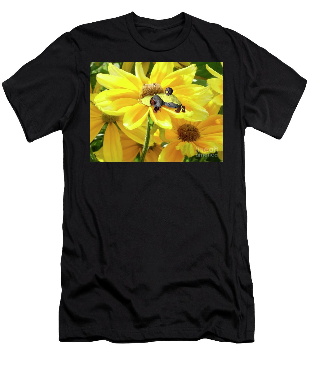 Men's T-Shirt (Athletic Fit) featuring the photograph Tucked In Zz by Laurie Haas