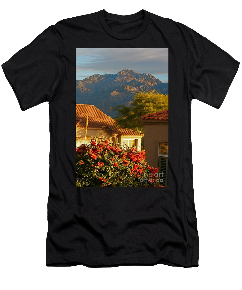 Mountains Men's T-Shirt (Athletic Fit) featuring the photograph Tucson Beauty by Nadine Rippelmeyer